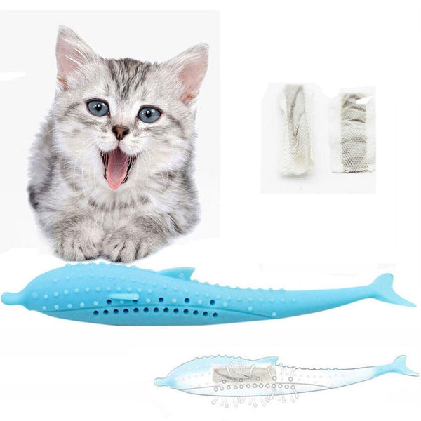 Tooth cleaner for cats (fish shape)
