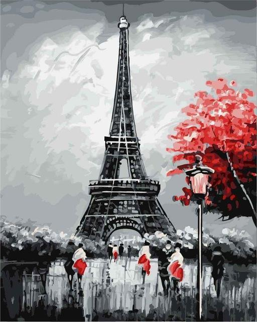 Paint by numbers - Eiffel Tower