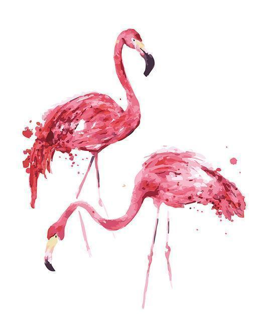 Paint by numbers - Flamingo couple