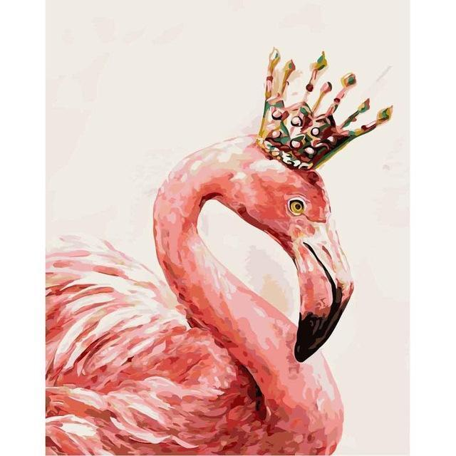 Paint by numbers - Flamingo Queen