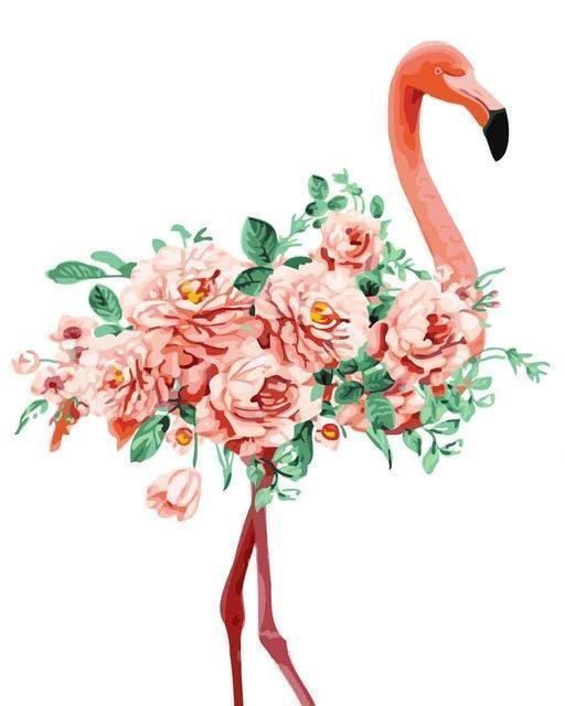 Paint by numbers - Flower Flamingo