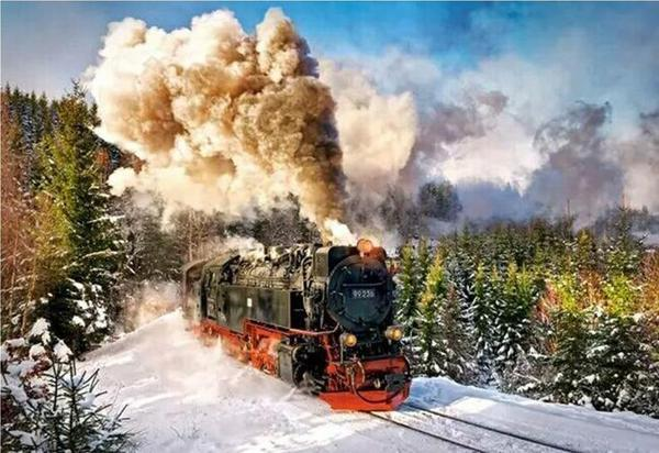 Paint by numbers - Brocken Railway