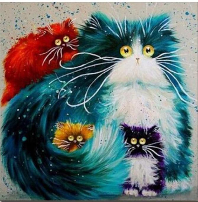 Paint by Numbers kit - Modern Cats
