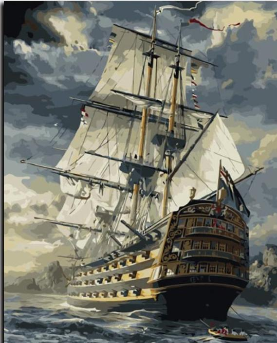 Paint by numbers - ship