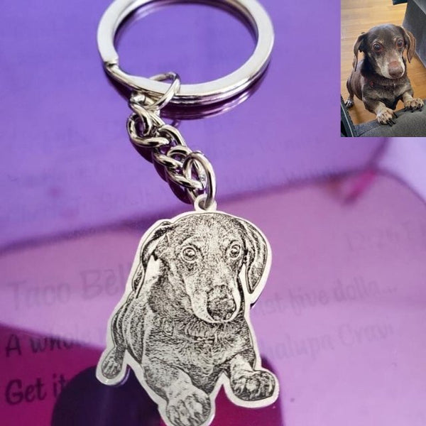 Four-legged engraving - necklace / keychain personalized