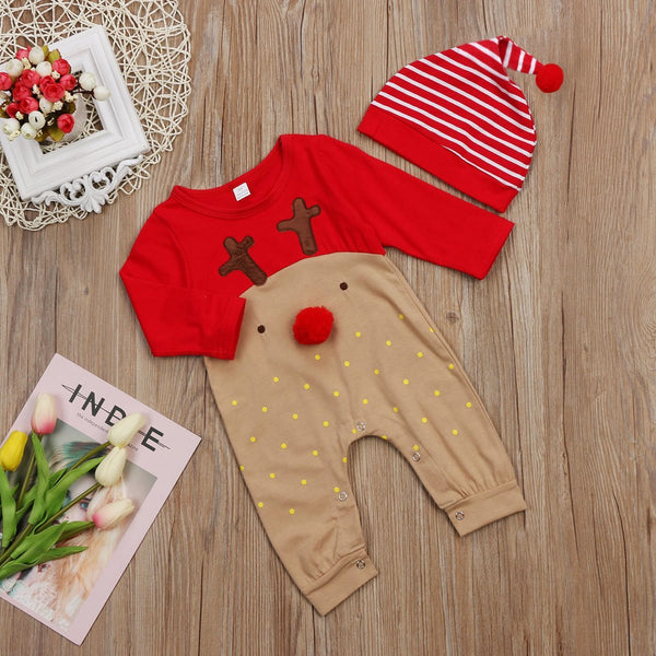 Set of 2 - cute reindeer suit + hat