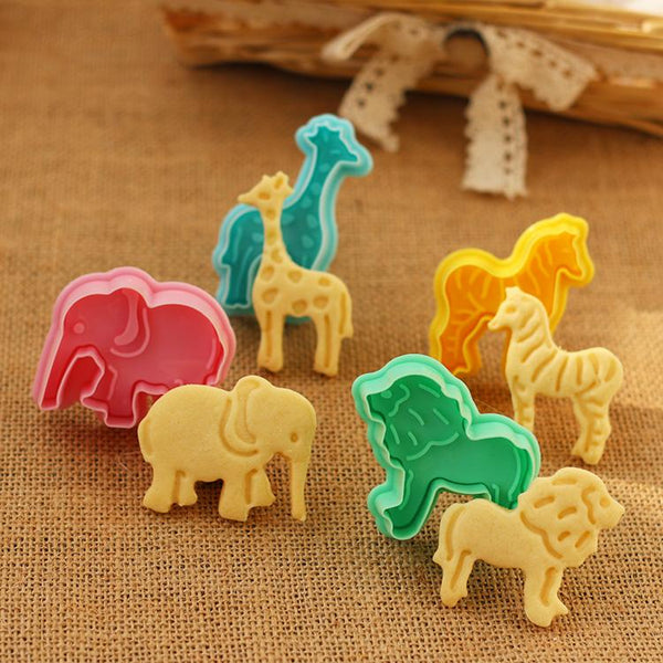 3D African Wildlife Cookies Cookie Cutter Set