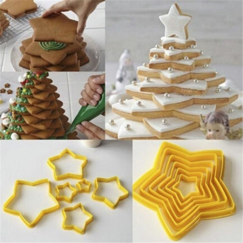 3D Biscuit Christmas Tree Cookie Cutter Set
