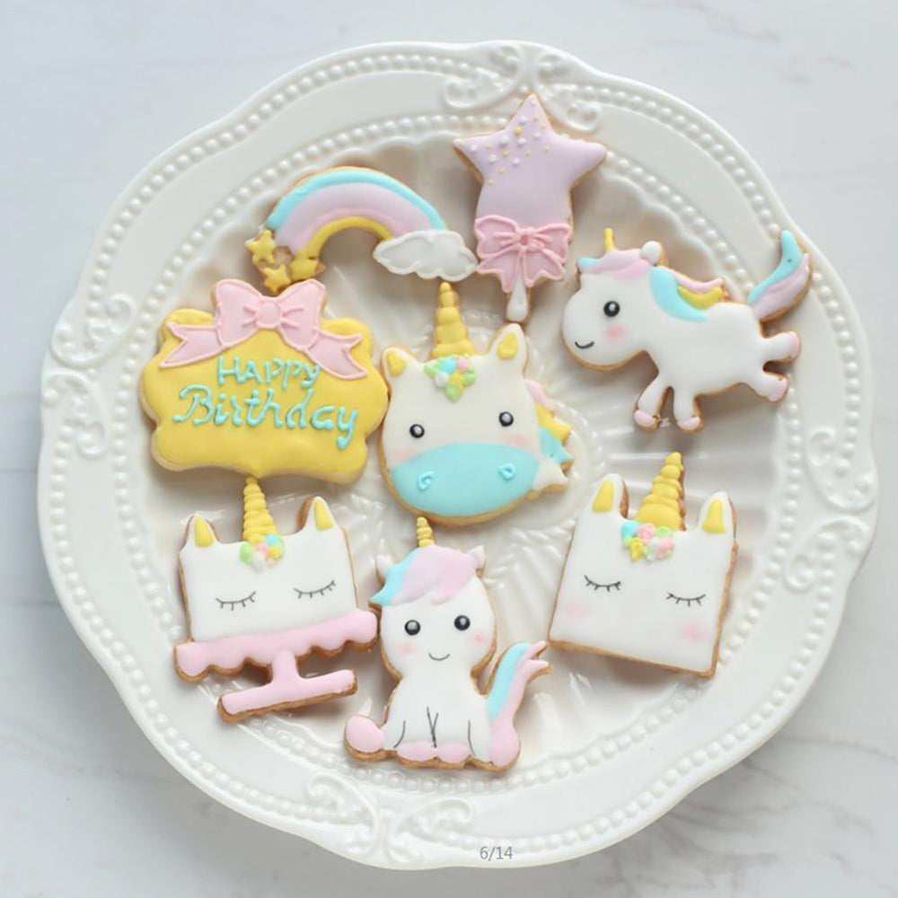 Unicorn cookie cutter set of 8