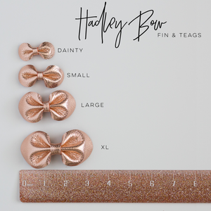Blooms Leather Bow