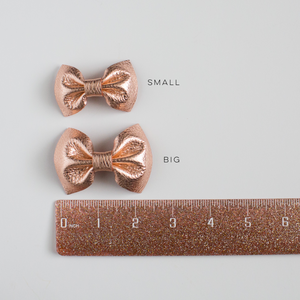 Swiss Dot Leather Bow