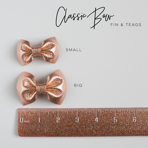 Grapefruit Leather Bow