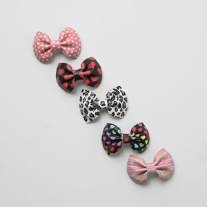 Valentine Collection Print Leather Bows (more color options available)