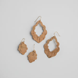 Mossy Wildwood Scalloped Earrings