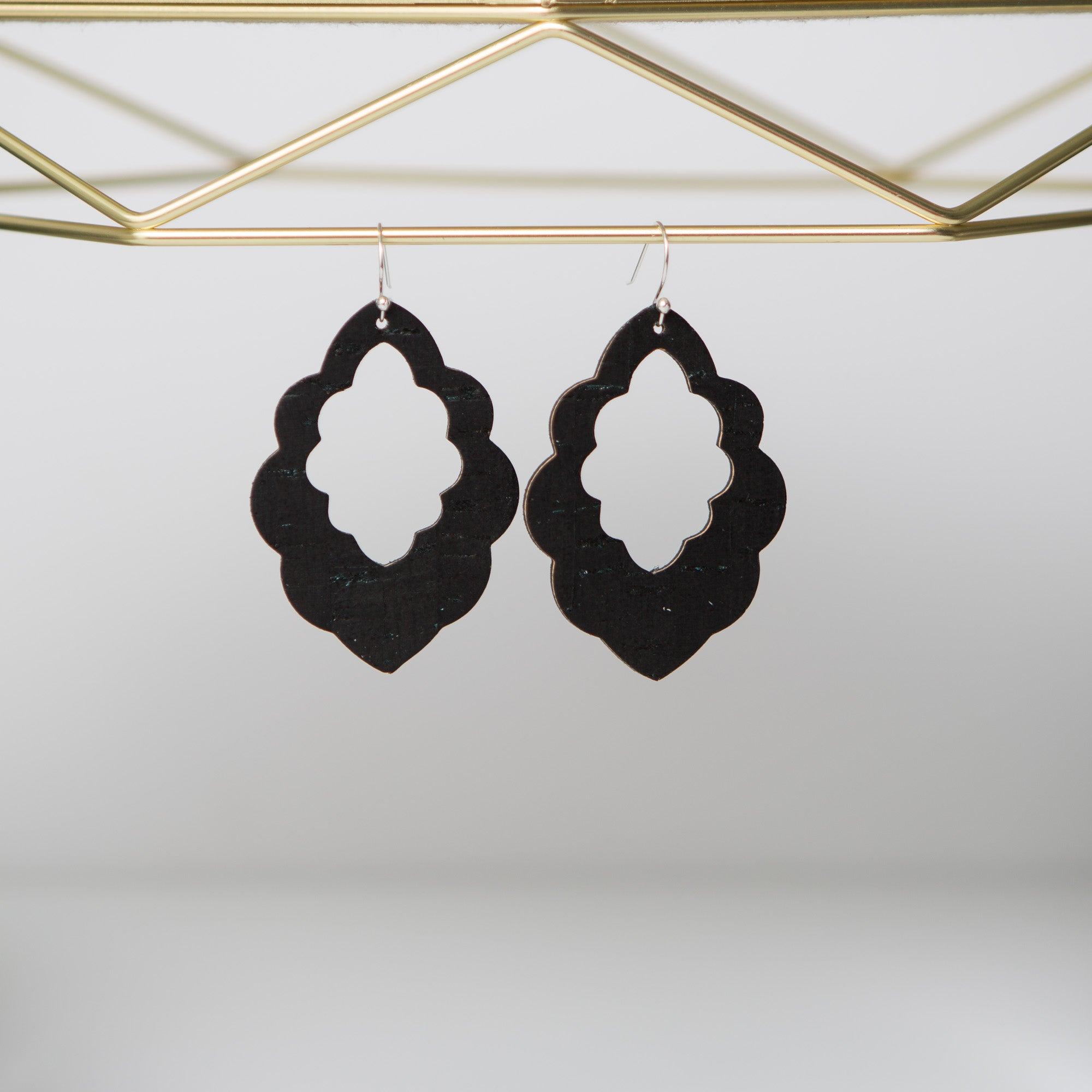 Scalloped Earrings (multiple leather options available)