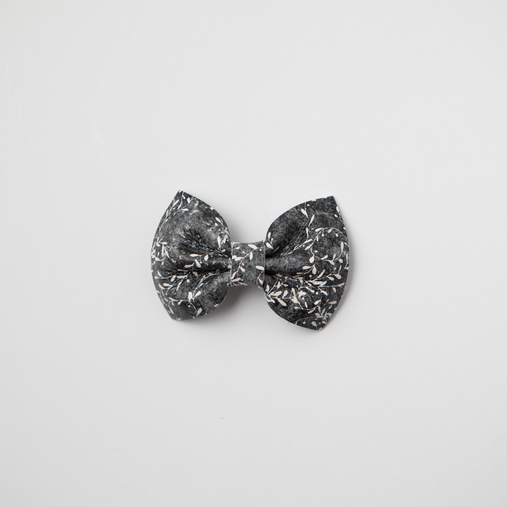 Midnight Vines Leather Bow