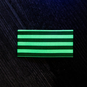 Glow Stripes Faux Leather Snap Clip
