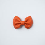 Orange Leather Bow