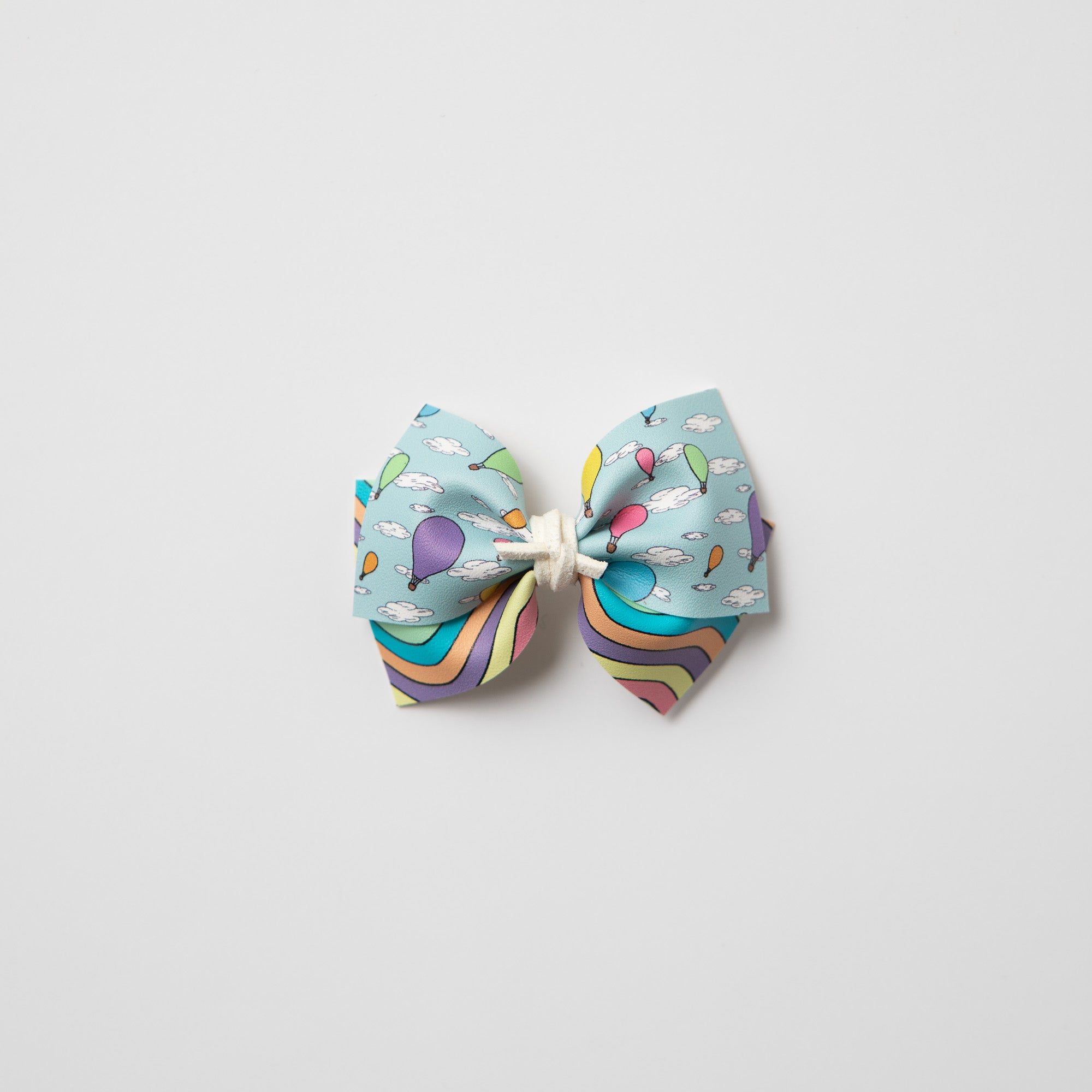 Double Layer Going Places Faux Leather Bows (multiple colors/prints available)