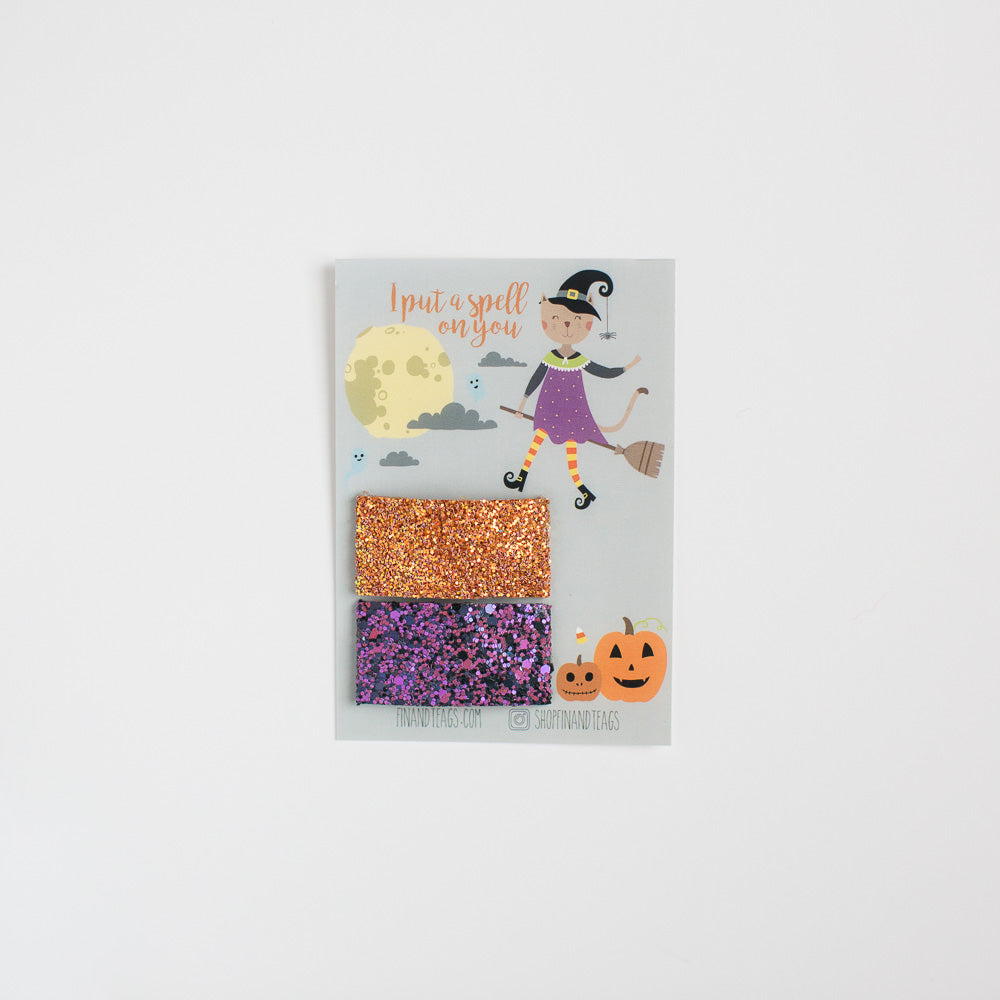 Witch's Brew Glitter Snap Clip