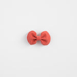Red Coral Leather Bow