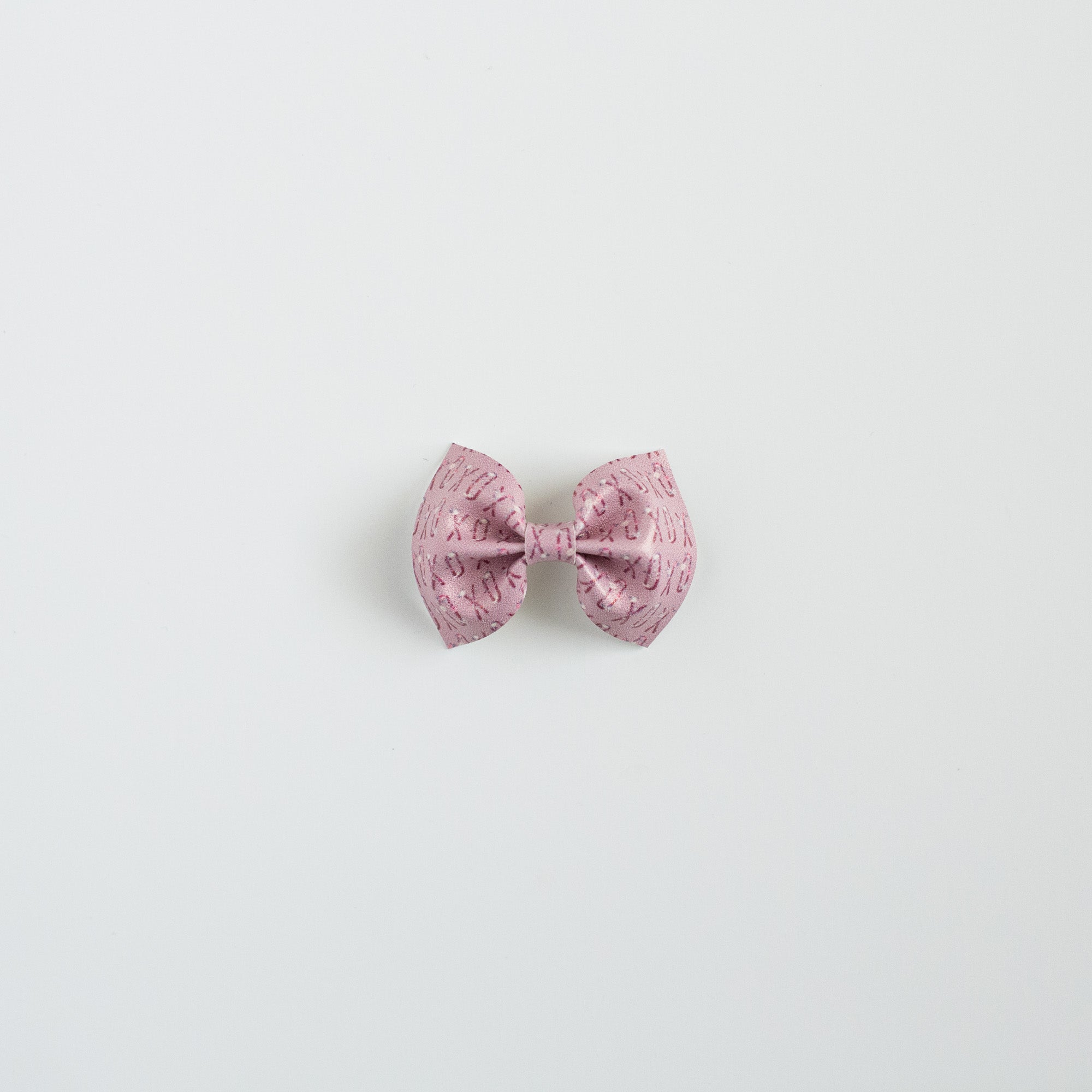 XOXO Faux Leather Bow