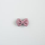 Two Tone Linen Leather Bow