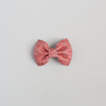 Living Coral Leather Bow