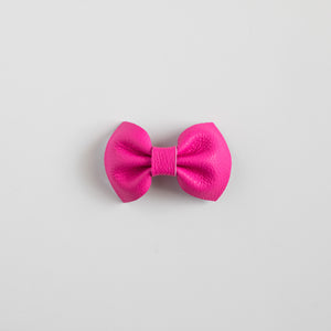 Hot Pink Leather Bows