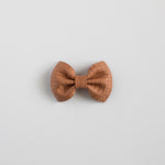Basketweave Leather Bows (multiple colors available)