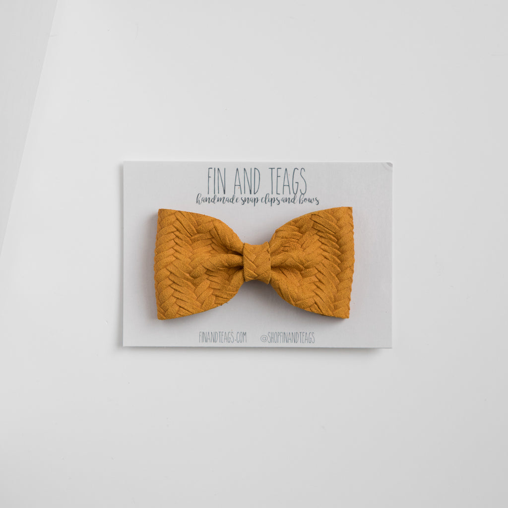 Fall Leather Bow Tie (multiple colors available)