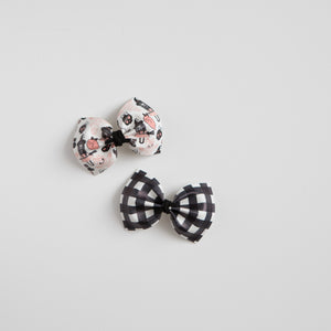 Halloween Print Faux Leather Bows (multiple options available)