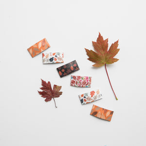 Fall Leaves Leather & Glitter Snap Clips (multiple options available)