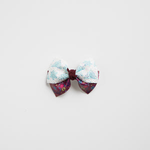 Sisters Faux Leather and Glitter Bow