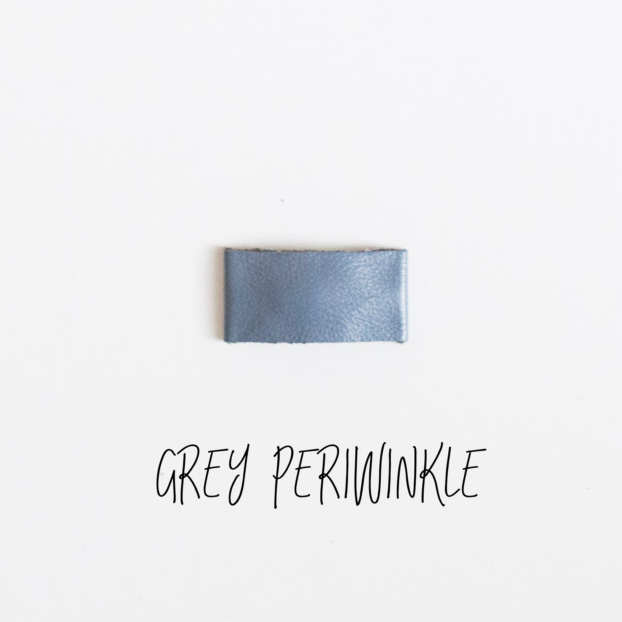 Grey Periwinkle Leather Snap Clip