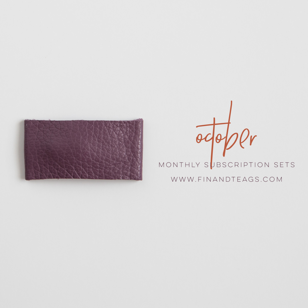 OCTOBER 2019 | Amethyst Purple Leather Snap Clip