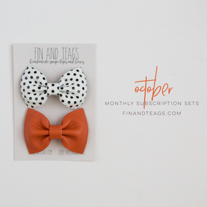 October | Leather Bows