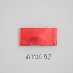 Metallic Red Leather Snap Clip