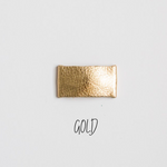 Gold Leather Snap Clip