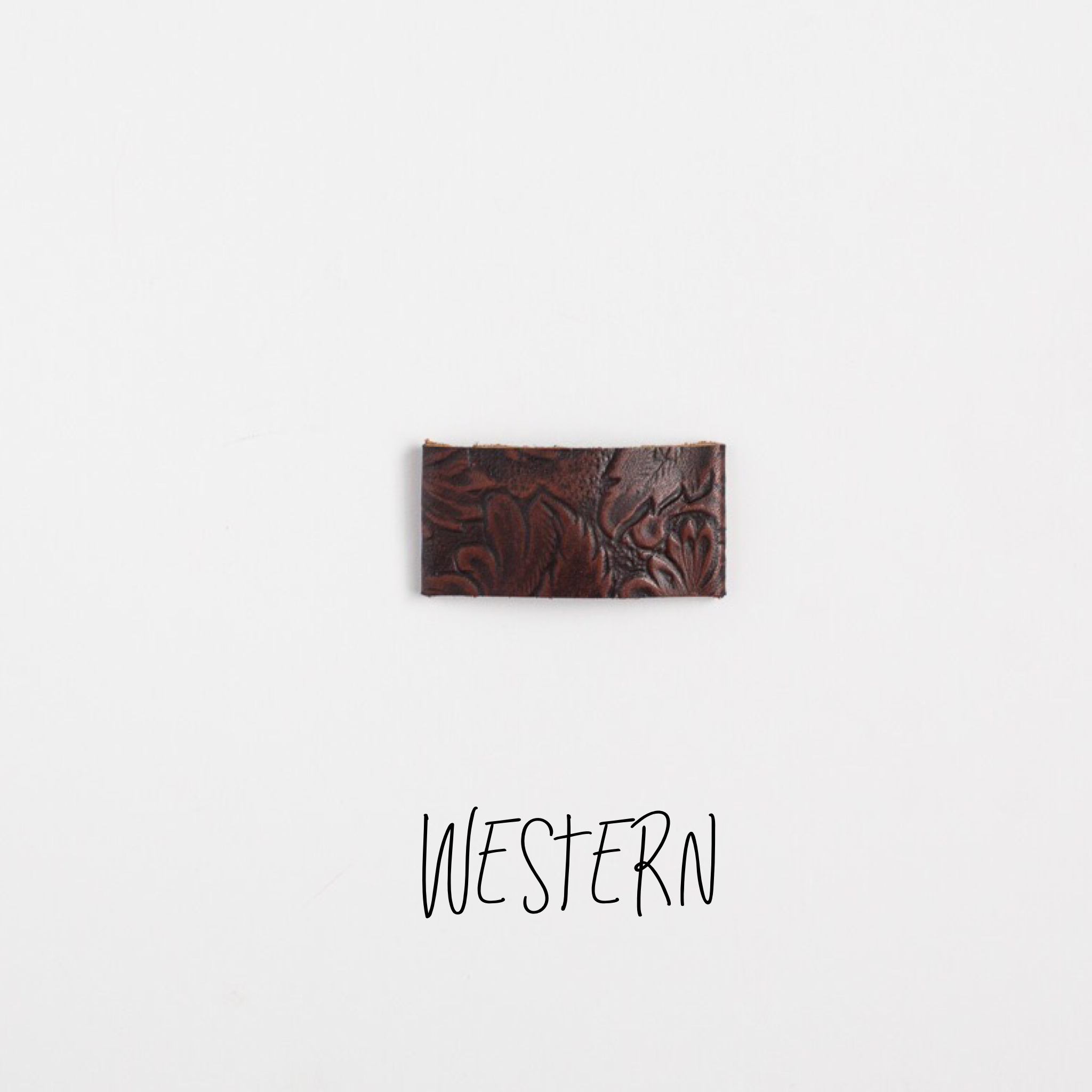 Western Leather Snap Clip
