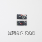 Wildflower Bouquet Leather Snap Clip