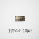 Champagne Shimmer Leather Snap Clip