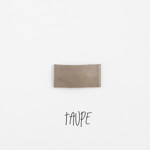 Taupe Leather Snap Clip