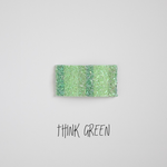Think Green Glitter Snap Clip