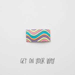 Get On Your Way Printed Faux Leather Snap Clip