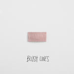 Blush Lines Leather Snap Clip