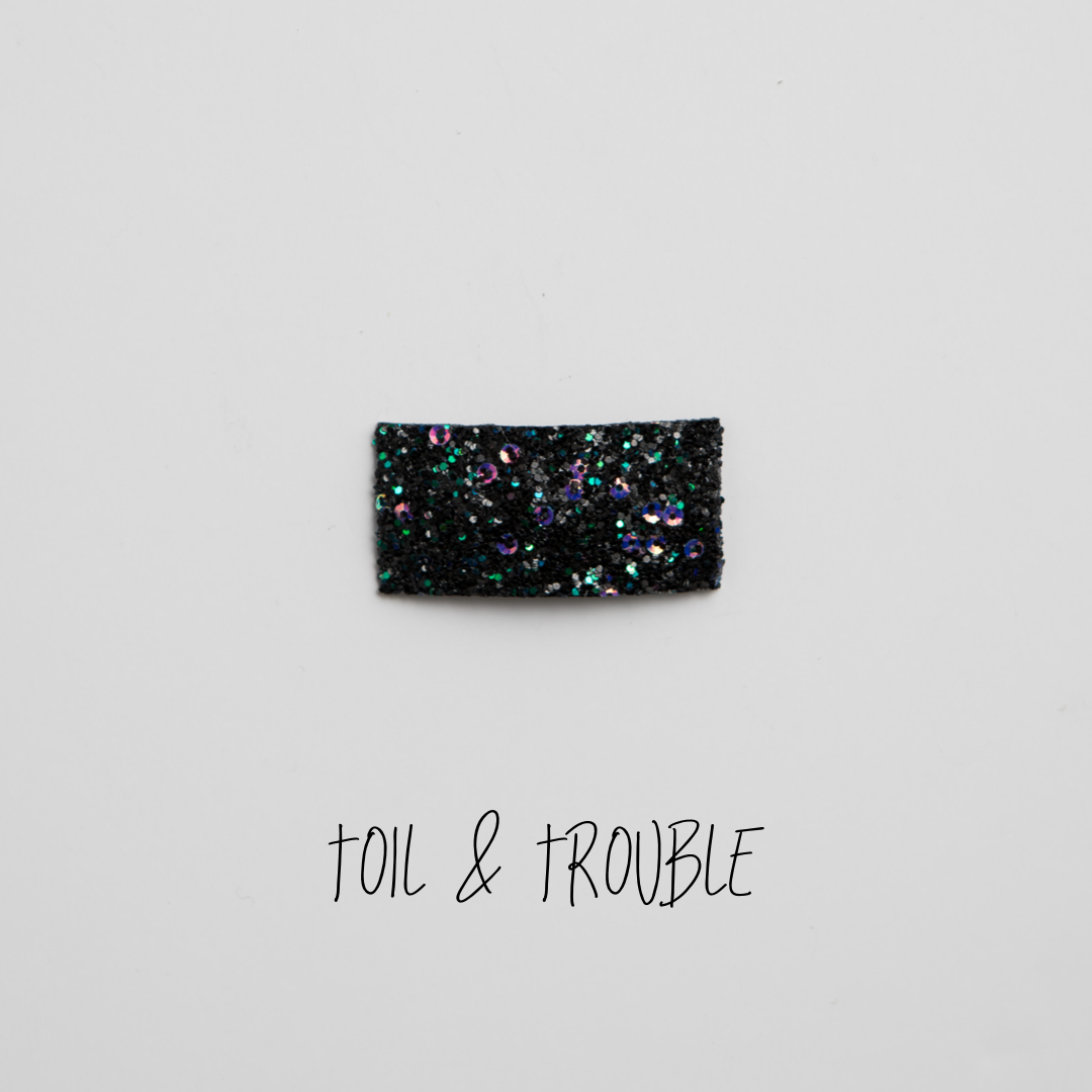 Toil & Trouble Glitter Snap Clip