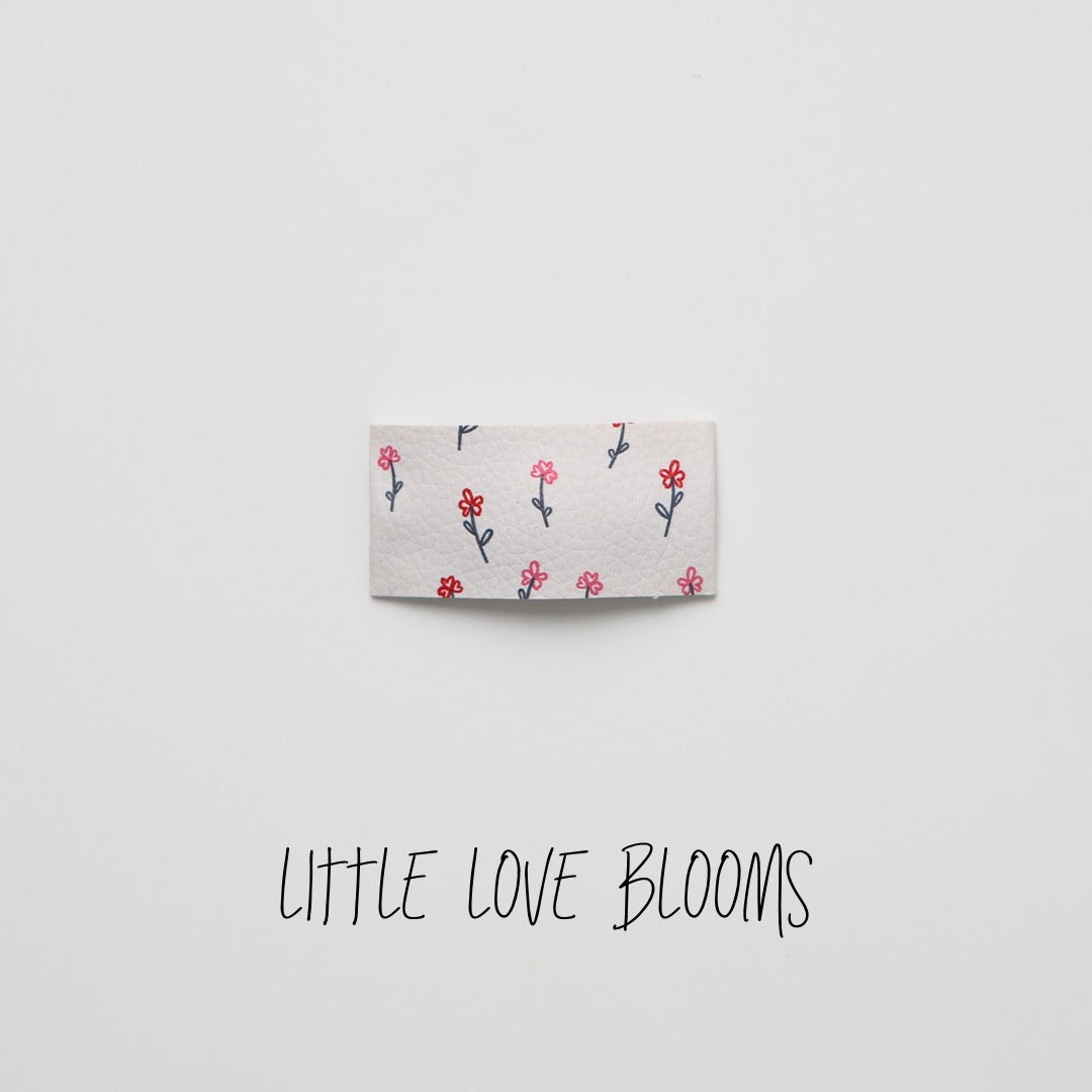 Little Love Blooms Faux Leather Printed Snap Clip