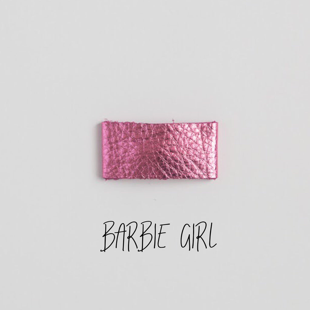 Barbie Girl Leather Snap Clip