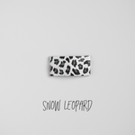 Snow Leopard Leather Snap Clip